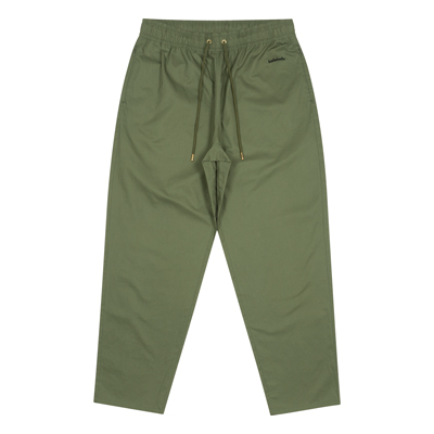 Cotton Twill Loose Pants (military green)