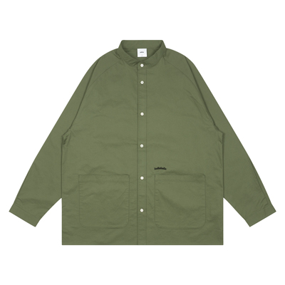 Cotton Twill Loose Shirt Jacket (military green)