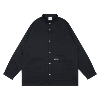 Cotton Twill Loose Shirt Jacket (navy)