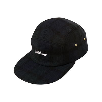 LOGO Wool Jet Cap (navy/dark green)