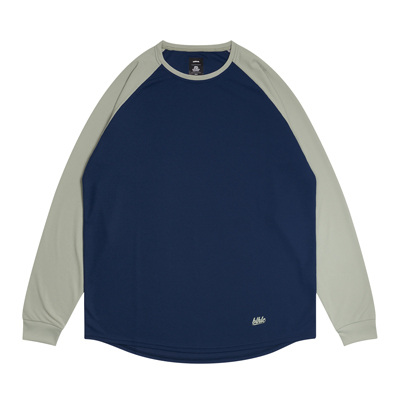 2 Tone blhlc Cool Long Tee (navy/gray)