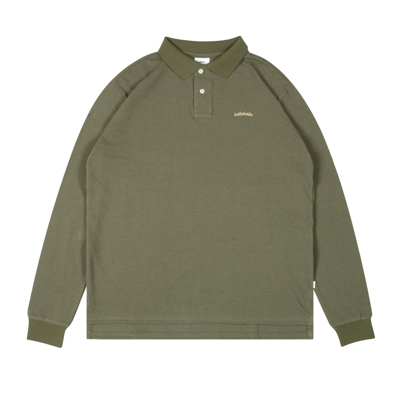 LOGO L/S Polo Shirt (olive/gold)