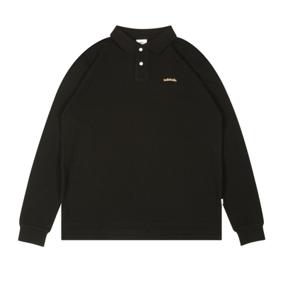 LOGO L/S Polo Shirt (black/gold)