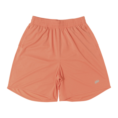Basic Zip Shorts (salmon pink/gray)