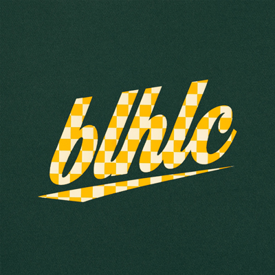 blhlc Back Print Cool Tee (dark green/yellow)
