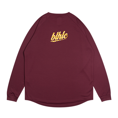 blhlc Back Print Cool Long Tee (crimson/yellow)