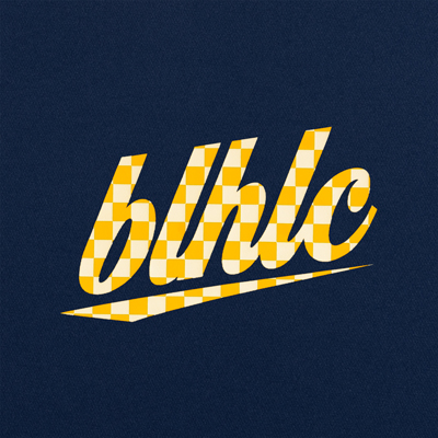 blhlc Back Print Cool Long Tee (navy/yellow)
