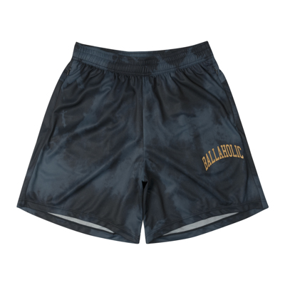 Tie-Dye Pattern Zip Shorts (navy)
