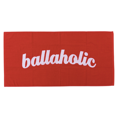 LOGO Jacquard Bath Towel (red/white)