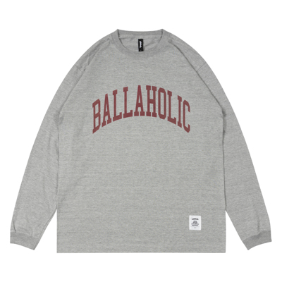 COLLEGE LOGO LongTee (gray/burgundy)