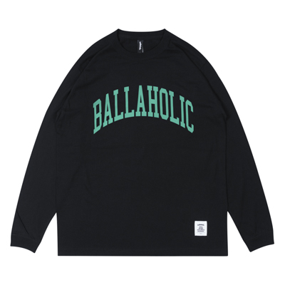 COLLEGE LOGO LongTee (black/tiffany blue)