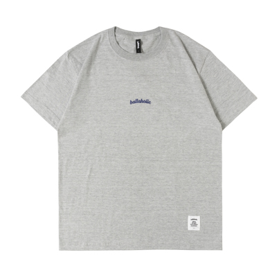 Small LOGO Tee (gray/navy)
