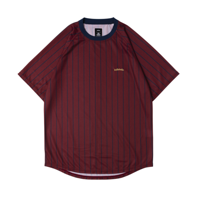 LOGO STRIPE COOL Tee (maroon/navy)