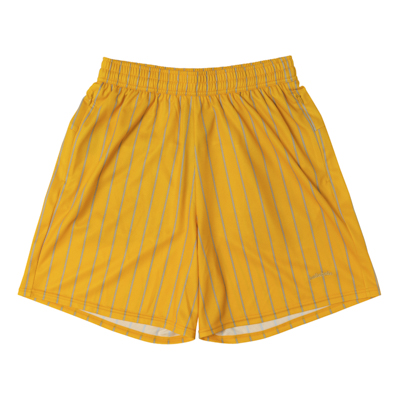 LOGO STRIPE Zip Shorts (yellow/gray)