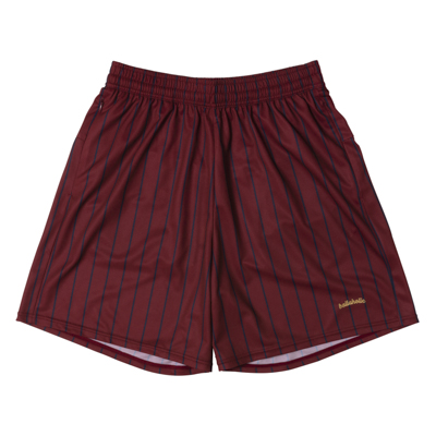 LOGO STRIPE Zip Shorts (maroon/navy)