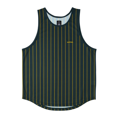 LOGO STRIPE TankTop (dark green/yellow)