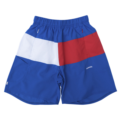 3Tone ANYWHERE Zip Shorts (blue/red/white)