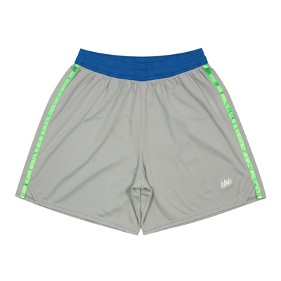 blhlc Line Tape Game Shorts (gray/lime green)