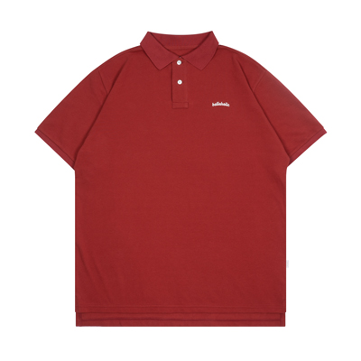 Logo S/S Polo Shirt (brown red)