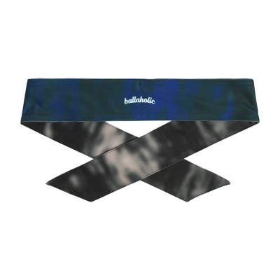 Water Pattern LOGO Head Tie (black/blue)