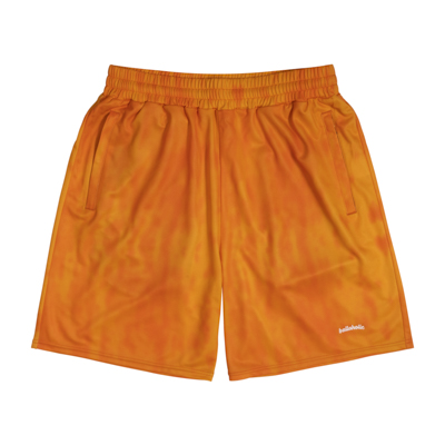 Water Pattern LOGO Zip Shorts (orange)
