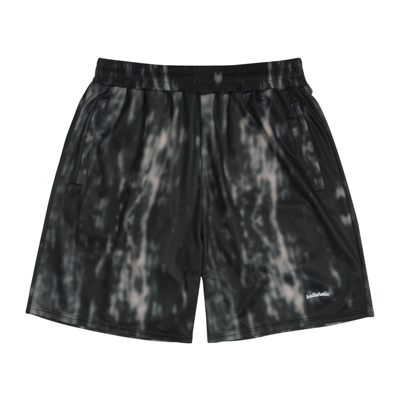 Water Pattern LOGO Zip Shorts (black)
