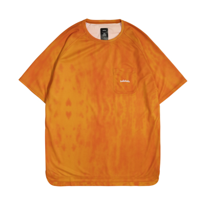 Water Pattern LOGO Pocket COOL Tee (orange)