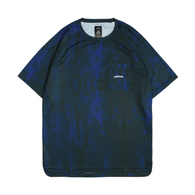 Water Pattern LOGO Pocket COOL Tee (blue)