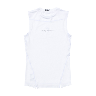 Compression No Sleeve Tops (white)