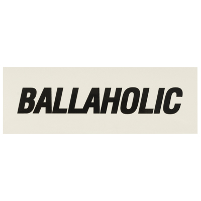 BALLAHOLIC BOX STICKER (off white/black)