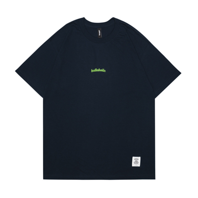 Small LOGO Tee (navy/lime green)