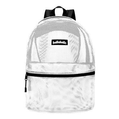 Ball On Journey Mesh Backpack (white)
