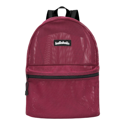 Ball On Journey Mesh Backpack (burgundy)