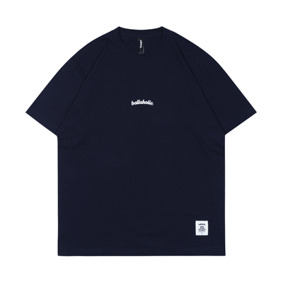 Small LOGO Tee (navy/white)