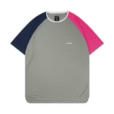 Color Blocked Pocket COOL Tee (gray)