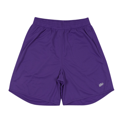 Basic Zip Shorts (purple/gray)