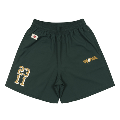 W-BASE x ballaholic Zip Shorts (dark green)