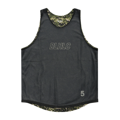 Digital Camo Reversible Tops (olive/black)