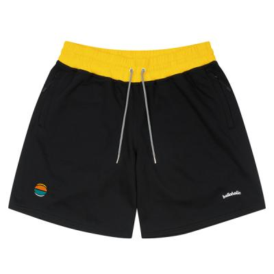 Ball Embroidered Sweat Zip Shorts (black)