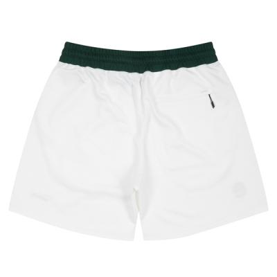Ball Embroidered Sweat Zip Shorts (white)