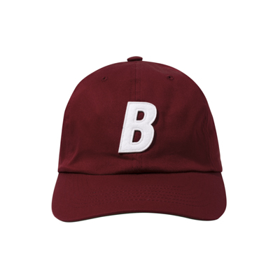 B 6P Cap (burgundy/white)