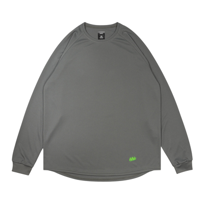 blhlc Cool Long Tee (charcoal gray/lime green)