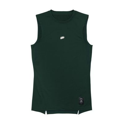 Compression No Sleeve Tops (dark green)