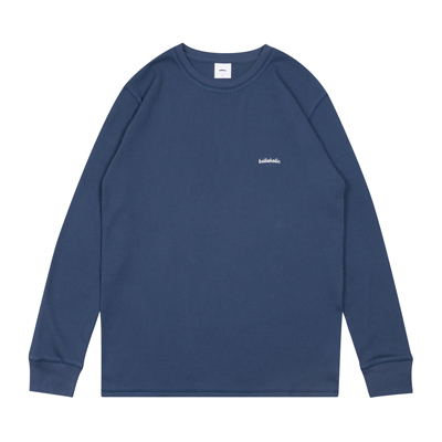 Logo Thermal Long Tee (cyan blue)