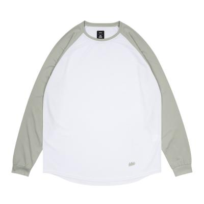 2 Tone blhlc Cool Long Tee (white/gray)
