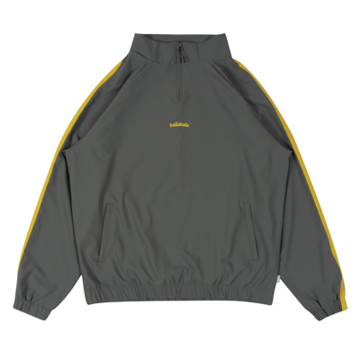 LOGO Tape Stretch Pullover Jacket (charcoal gray)