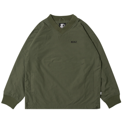 STARTER x ballaholic Warm Up Pullover (olive)