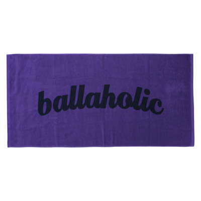 LOGO Jacquard Bath Towel (purple/navy)