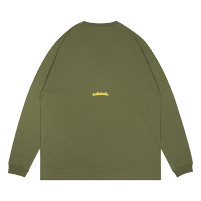 Triangle Pattern Long Tee / SS6 (light olive)
