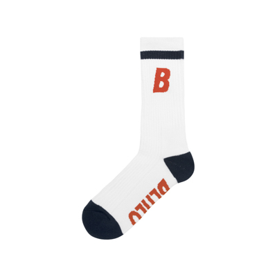 B Socks (white/orange/navy)